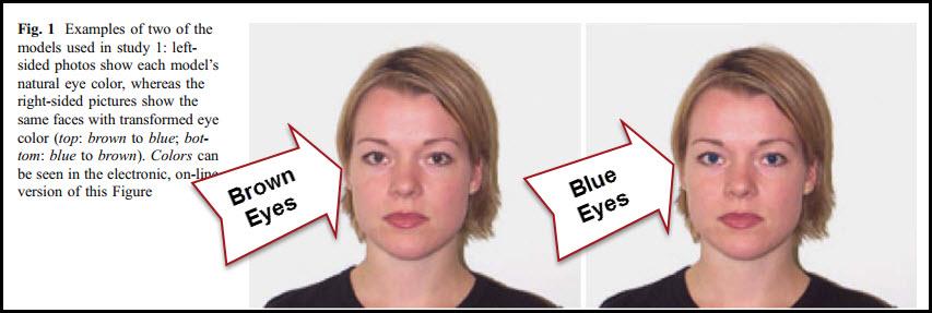 Men Prefer Women With Blue Eyes