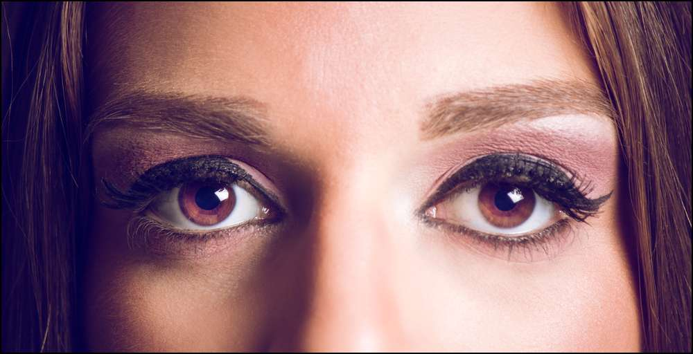 A woman's eyes are a signal for sex