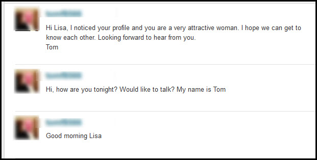Guy Sending Too Many Messages to a Woman on a Dating Site