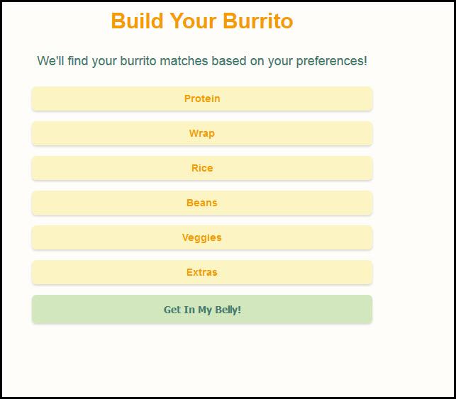 Burrito Lovers Dating Site Choose Fixings