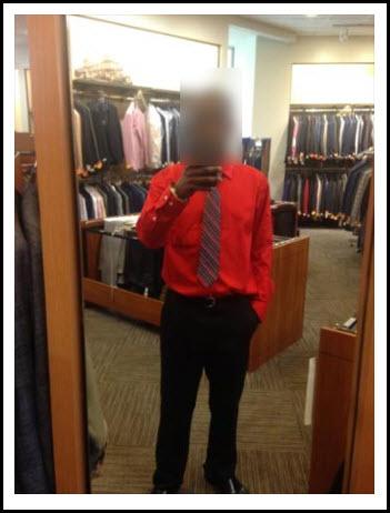 work selfie dating profile photo