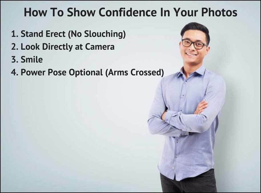 How to show you are confident and not a passive man in your photos