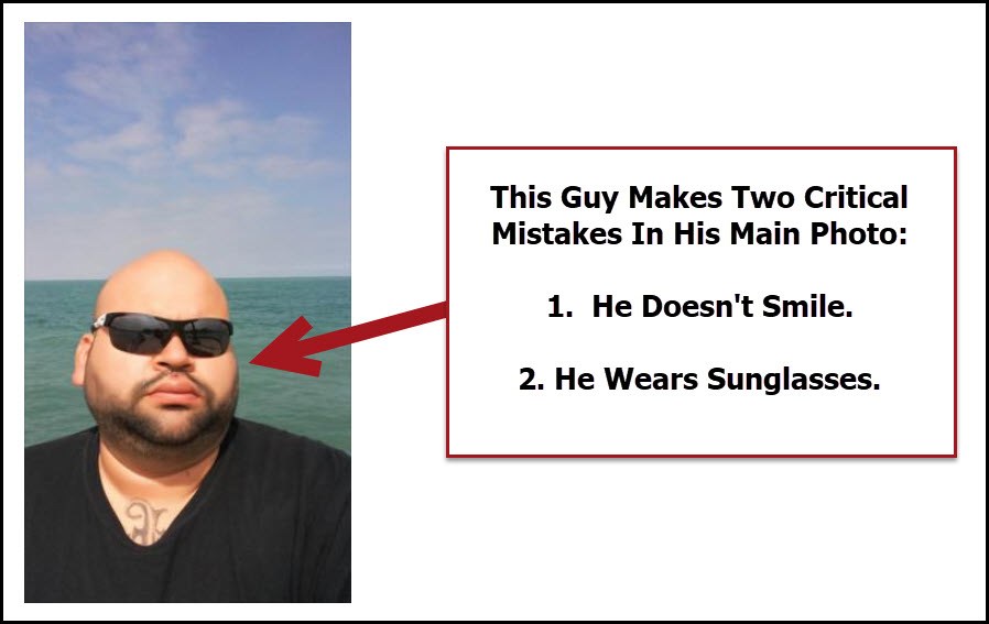 Why men must avoid wearing sunglasses in profile photos