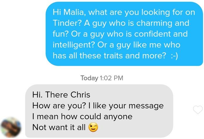 Tinder spinning message under circle I get